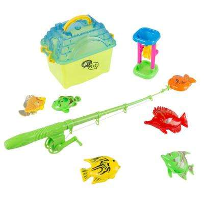 Kids Pretend Play Fishing Set with Magnetic Fishing Pole