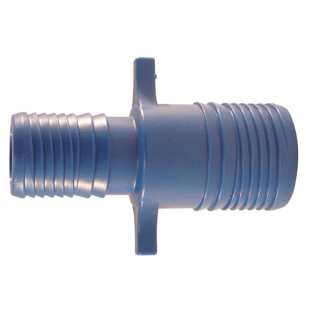 1 in. x 1-1/4 in. Blue Twister Polypropylene Insert Coupling