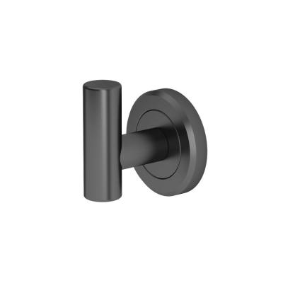Latitude II Single Robe Hook in Matte Black