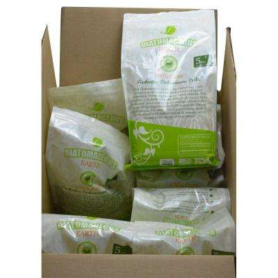 5 lbs. Bag Diatomaceous Earth Food Grade (Fresh Water Type) Codex DE (0.5) (8-Pack)