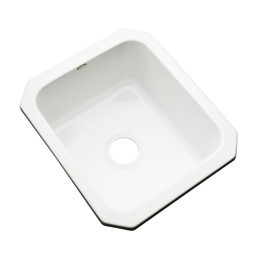 Thermocast crisfield undermount acrylic 17 in single bowl thermocast crisfield undermount acrylic 17 in single bowl entertainment sink in white workwithnaturefo