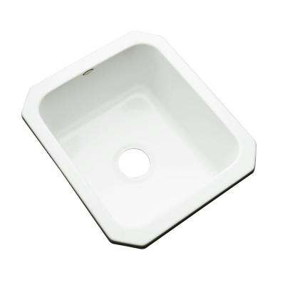 Crisfield Undermount Acrylic 17 in. Single Bowl Entertainment Sink in White