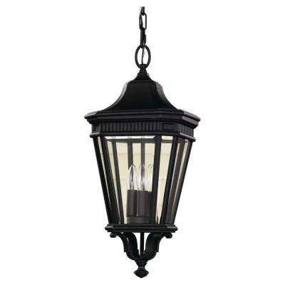 Cotswold Lane 3-Light Black Outdoor Hanging Pendant