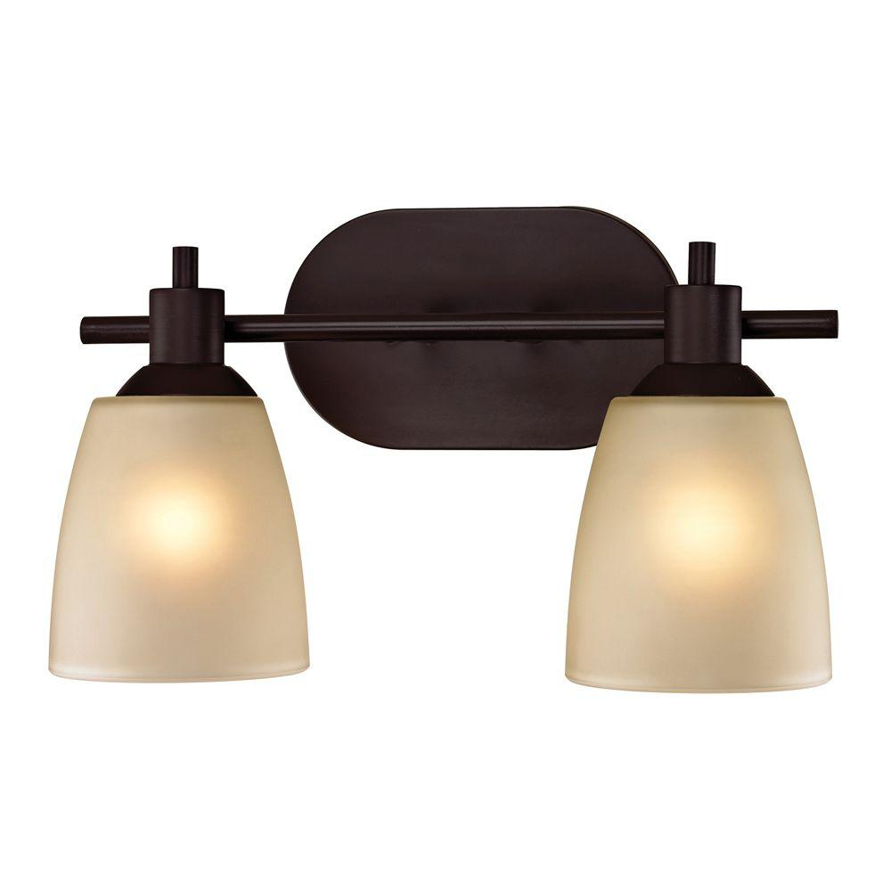 Titan Lighting Jackson 2-Light Oil-Rubbed Bronze Wall Mount Bath Bar Light