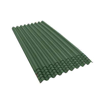 6 ft. 7 in. x 3 ft. Asphalt Corrugated Roof Panel in Green (5-Pack)