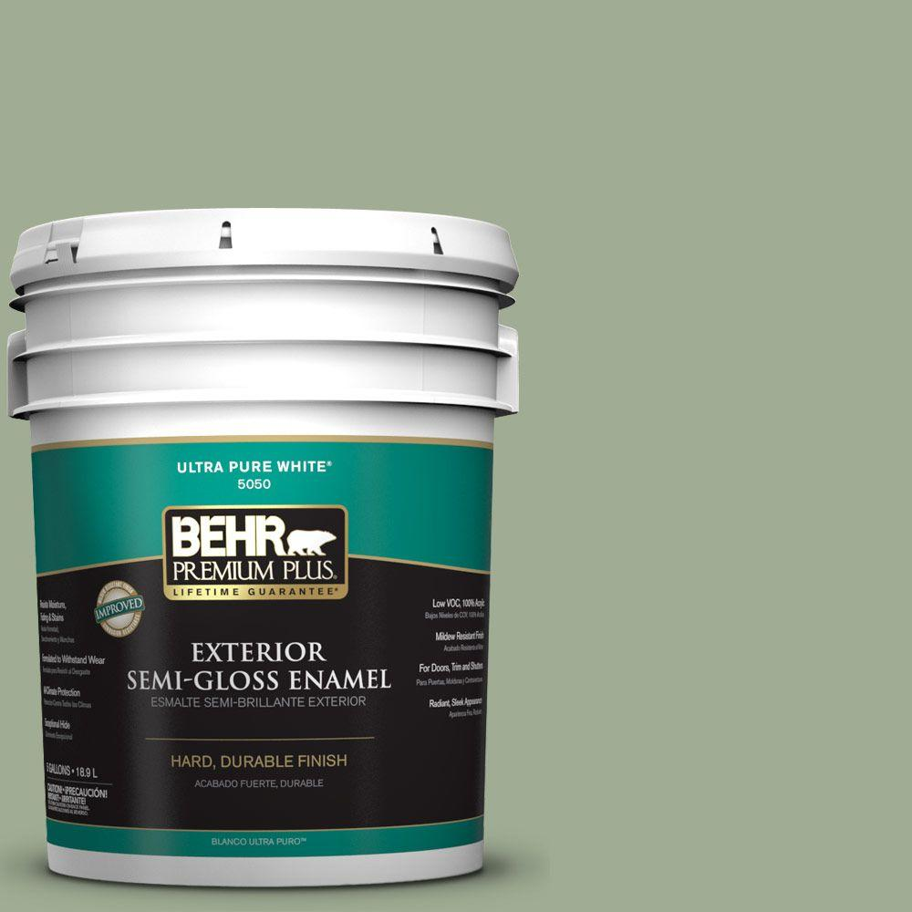 BEHR Premium Plus 5-gal. #S390-4 Roof Top Garden Semi-Gloss Enamel Exterior Paint
