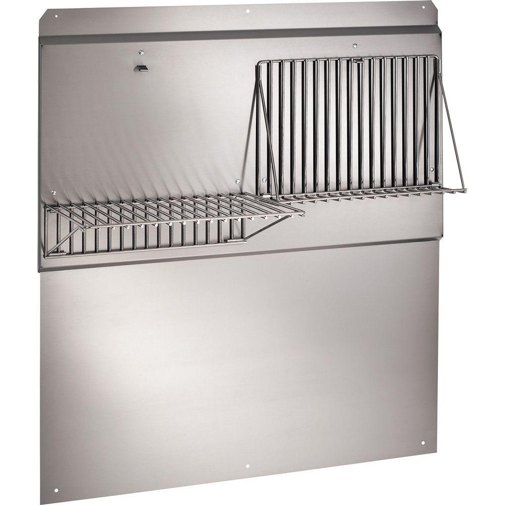 48 in. Backsplash with Shelves in Stainless Steel for Range Hood