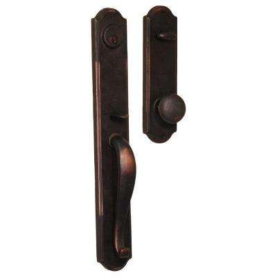 Molten Bronze Single Cylinder Oil-Rubbed Bronze Wiltshire Interconnect Handleset with Wexford Knob