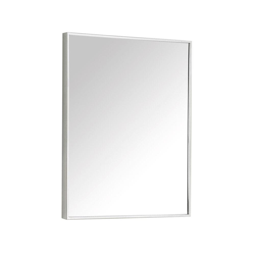 Avanity Kent 18 In W X 28 In H Single Framed Mirror In Metal Kent M18 The Home Depot