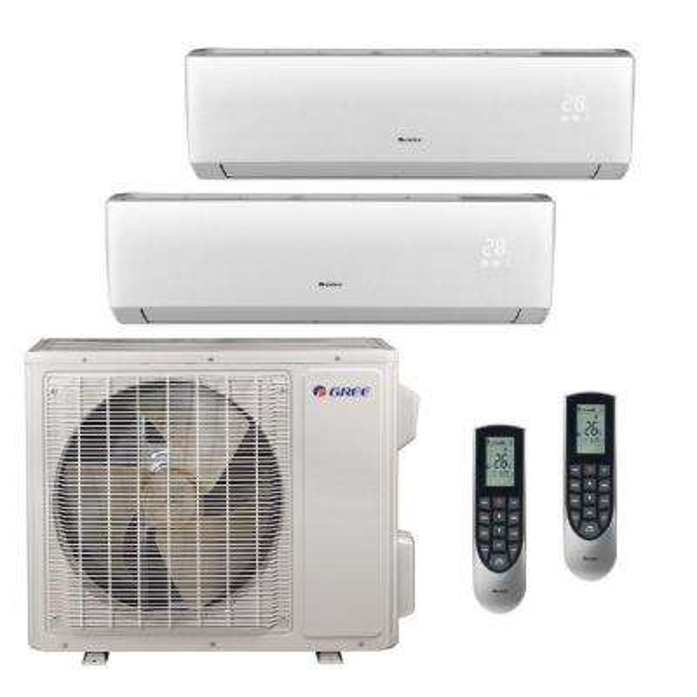 Multi-21 Zone 18,000 BTU 1.5 Ton Ductless Mini Split Air Conditioner with Heat, Inverter, Remote - 208-230-Volt/60Hz