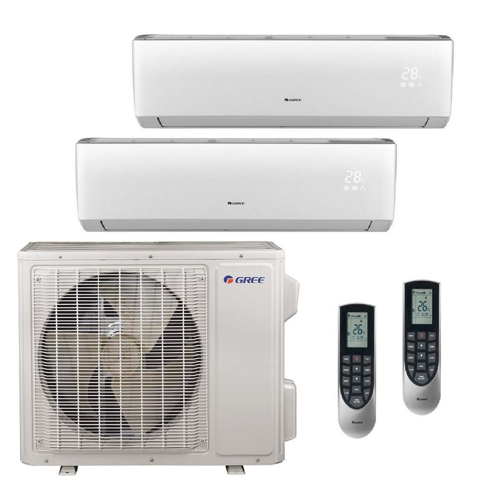 GREE Multi-21 Zone 18,000 BTU 1 5 Ton Ductless Mini Split Air Conditioner  with Heat, Inverter, Remote - 208-230-Volt/60Hz