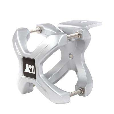 Small X-Clamp Light Mount with Silver Finish