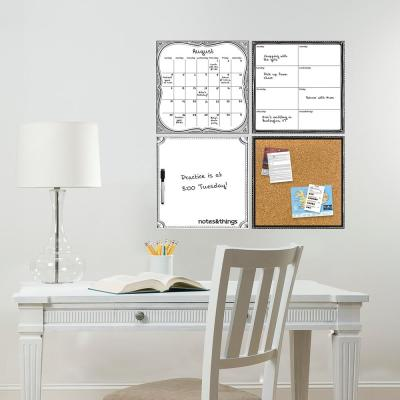 White 4 Piece Organizer Kit Wall Decal