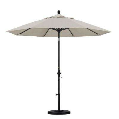 9 ft. Aluminum Collar Tilt Patio Umbrella in Granite Olefin