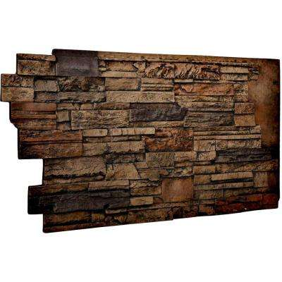 1-1/2 in. x 48 in. x 25 in. Java Urethane Dry Stack Stone Wall Panel