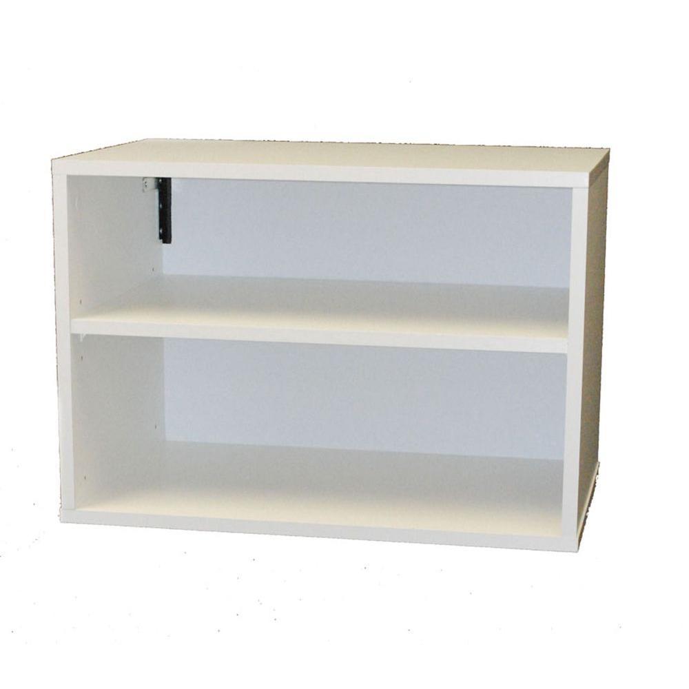 Talon 23 in. W 2-Shelf Laminate Stackable Horizontal Organizer in White