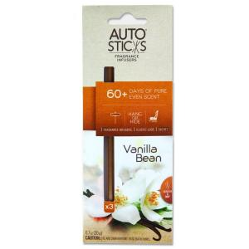 AutoSticks Air Freshener Vanilla Bean (3-Pack) by AutoSticks