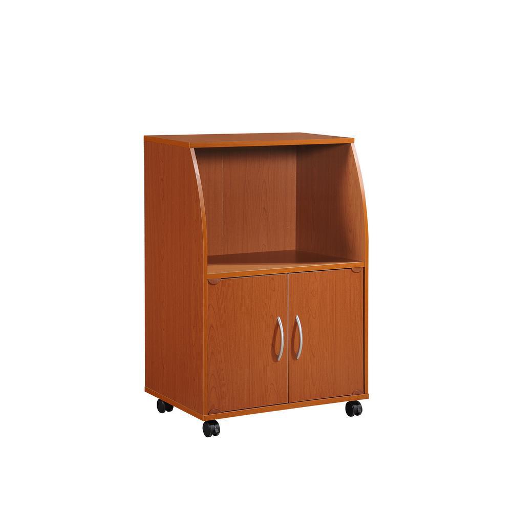 Hodedah Cherry Microwave Cart