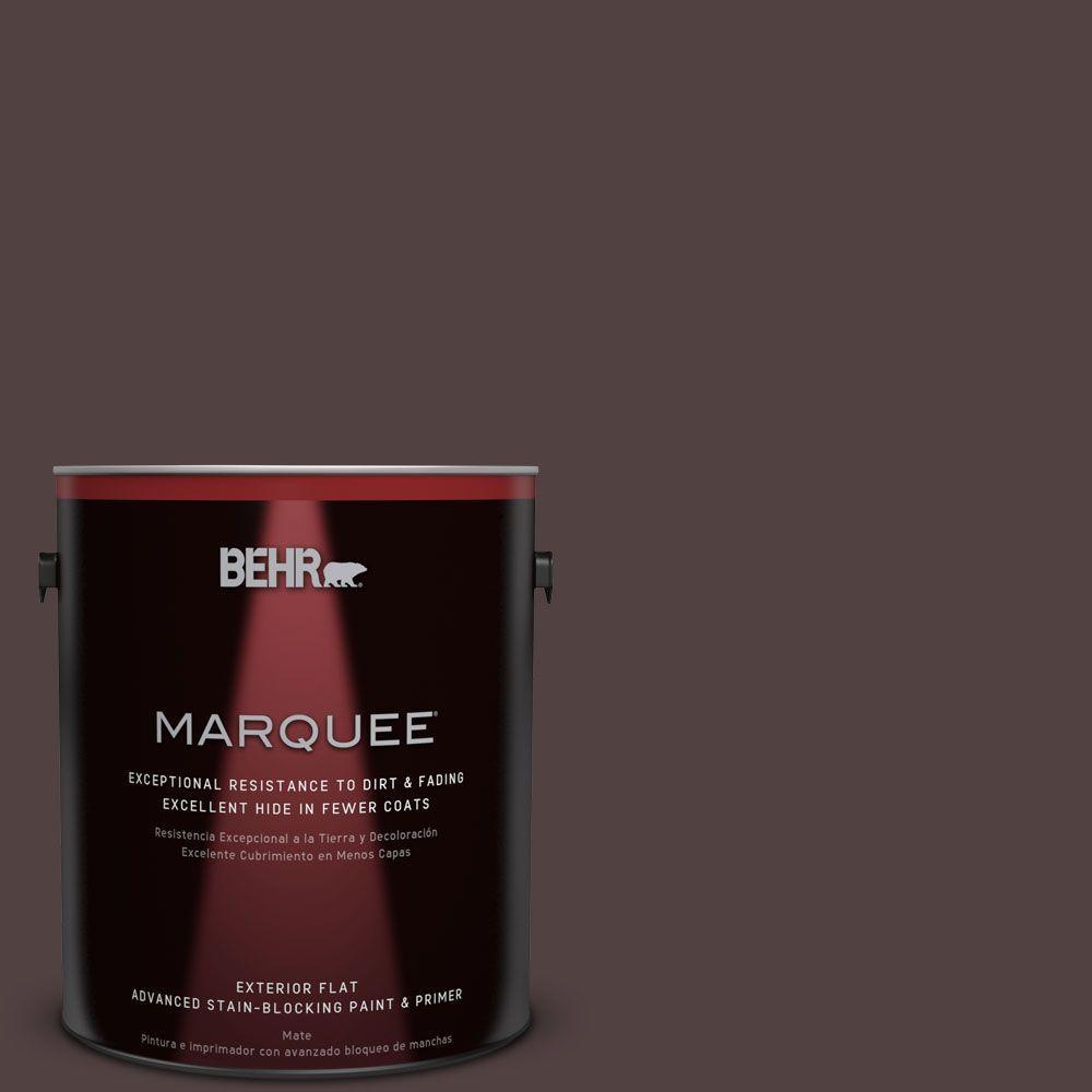BEHR MARQUEE 1-gal. #BXC-87 Rich Bordeaux Flat Exterior Paint