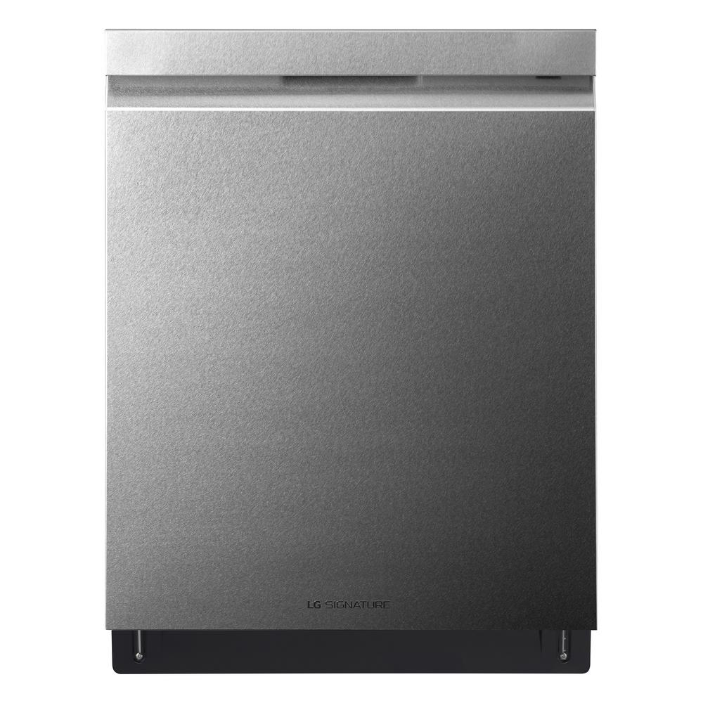 LG SIGNATURE Top Control Built-In Tall Tub Smart Dishwasher with Wi-Fi Enabled in Textured Steel, ENERGY STAR, 38 dBA