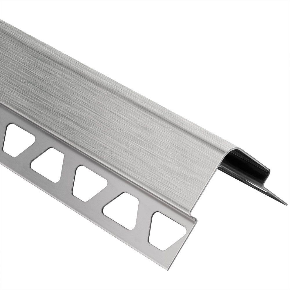Schluter ECK-E Brushed Stainless Steel 1/4 In. X 6 Ft. 7