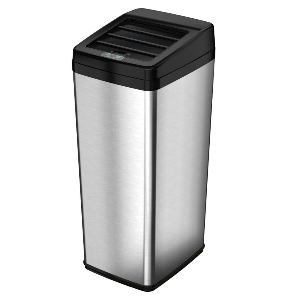 14 Gal. Stainless Steel Motion Sensing Touchless Trash Can