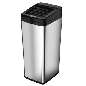 iTouchless 14 Gal. Stainless Steel Motion Sensing Touchless Trash Can by iTouchless