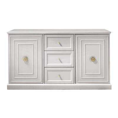 Cupertino 3-Drawer Dove Grey Dresser