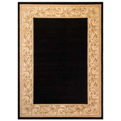Elegant Embrace Black 5 ft. x 7 ft. Area Rug