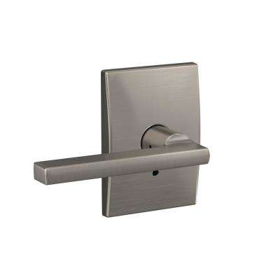 Custom Latitude Satin Nickel Century Trim Dummy  Lever (2-pack)