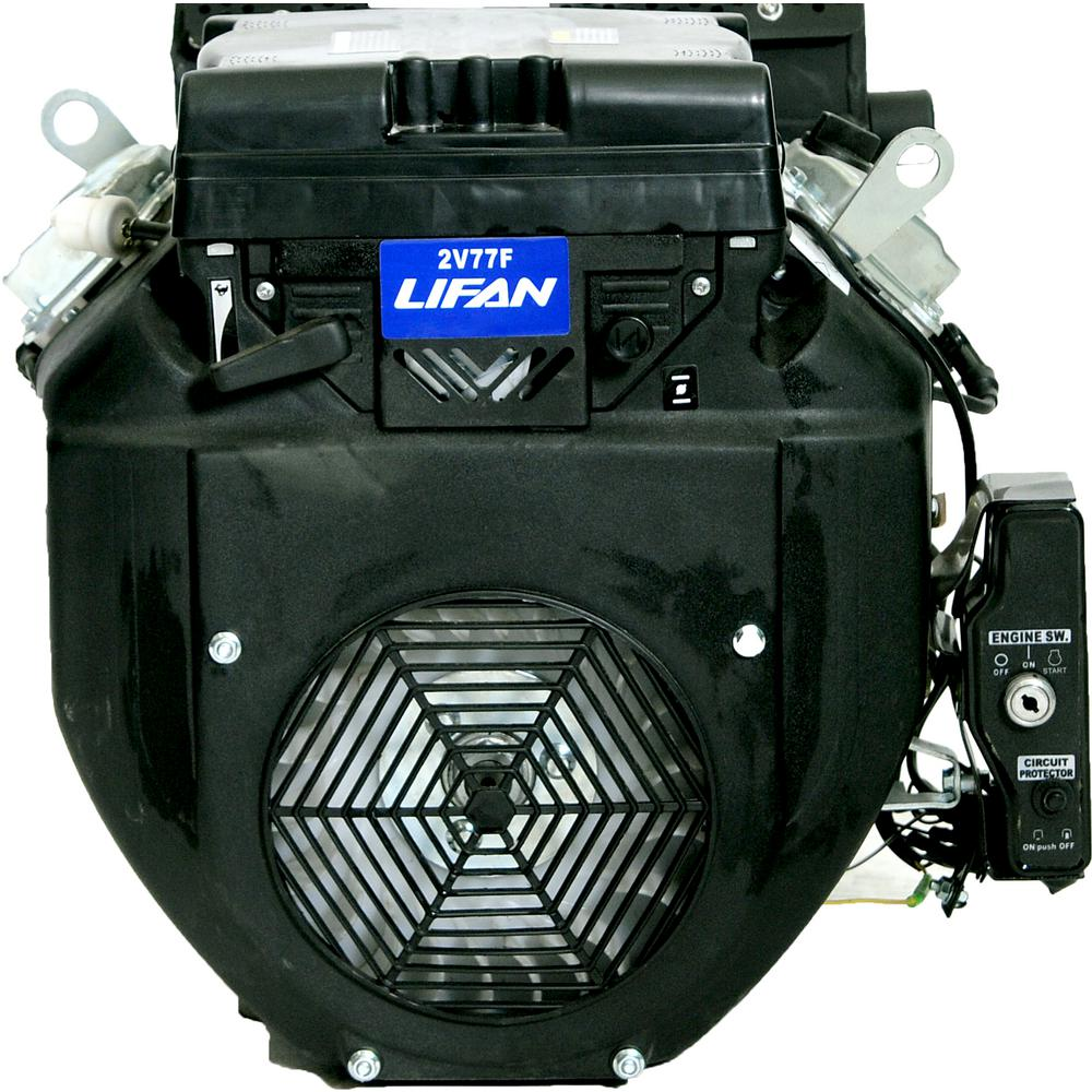 LIFAN 1 in  24 HP V-Twin Electric Start Keyway Shaft Gas Engine with 24 Amp  Charging System