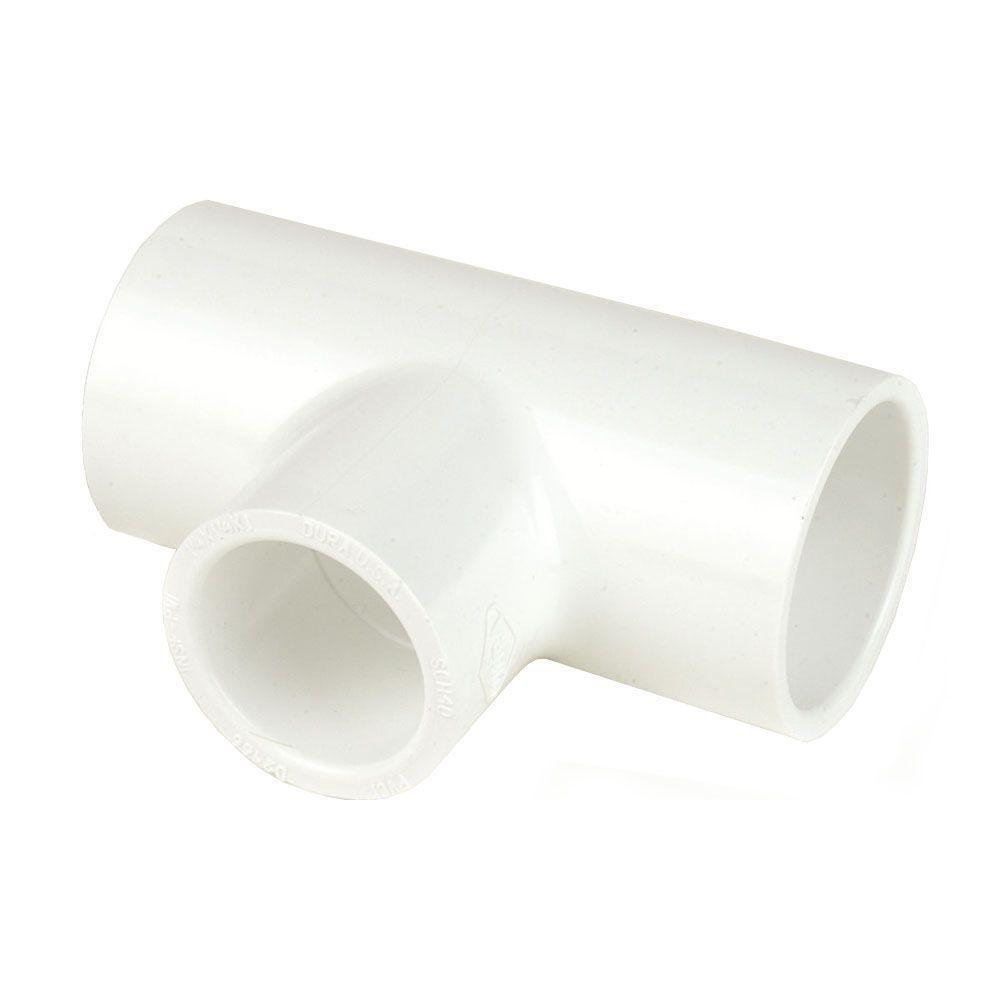 DURA 8 in. x 8 in. x 4 in. Schedule 40 PVC Reducing Tee SxSxS