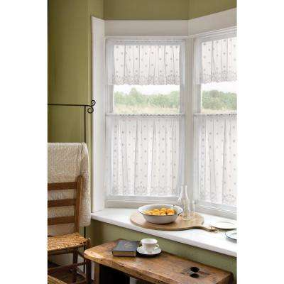 Daisy 60 in. L Polyester Valance in White