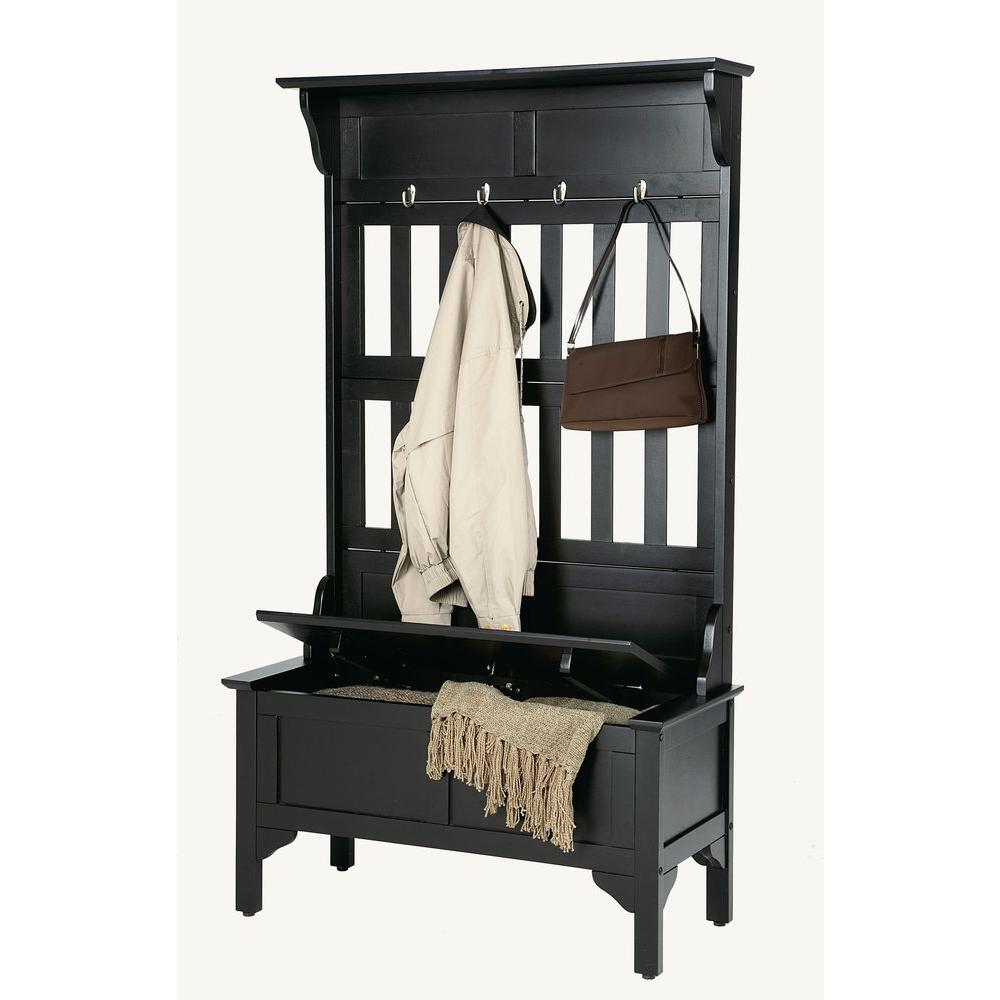 Home styles hall tree in black 5650 49 the home depot for Homestyles com