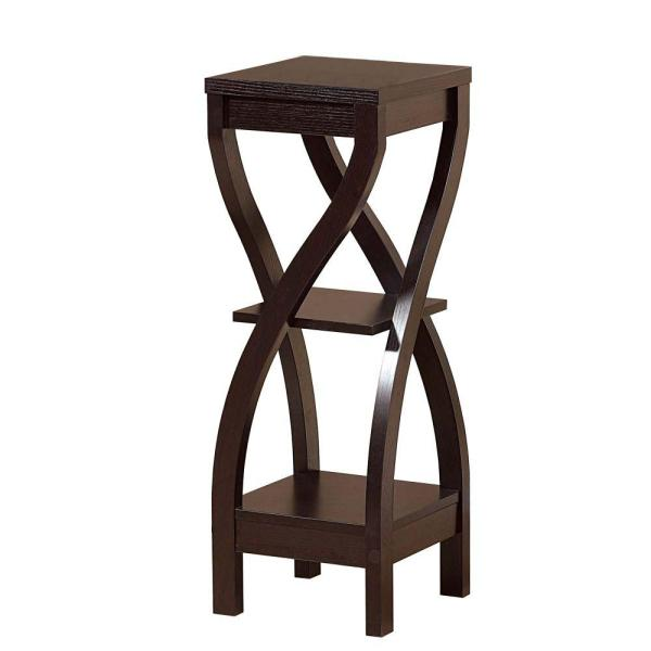 4b185862d1e4 Benjara Dark Brown Elegant Design Plant Stand BM148787 - The Home Depot