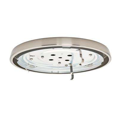 Brushed Nickel CFL Low Profile Fitter with Circline Bulb