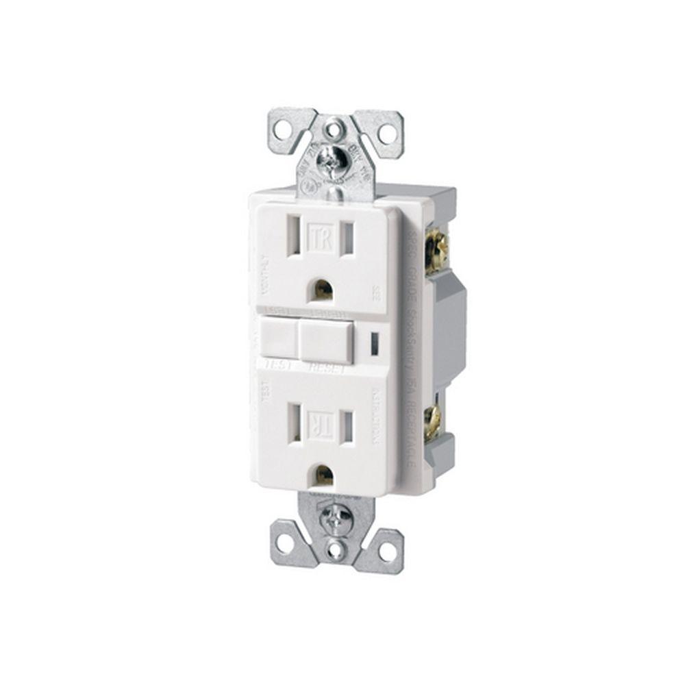 Eaton Specification Grade 15 Amp 125-Volt Duplex GFCI - White