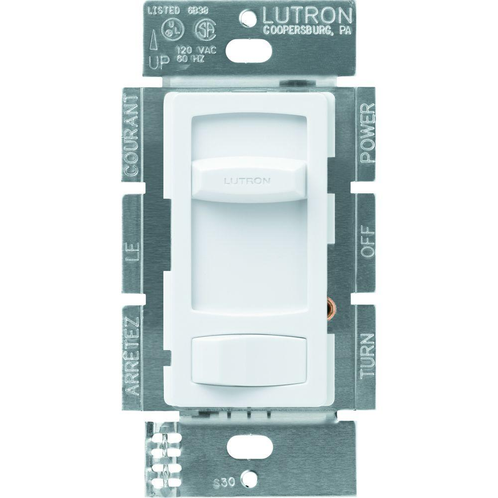 Lutron Skylark Contour 1000-Watt Single-Pole/3-Way Preset Dimmer - White