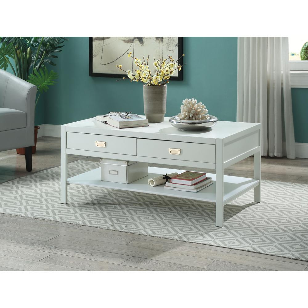 Null Peggy White Coffee Table