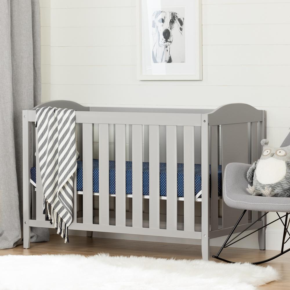 Angel Soft Gray Crib