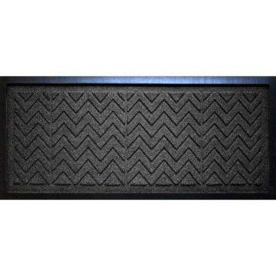 Charcoal 15 in. x 36 in. x 0.5 in. Chevron Boot Tray