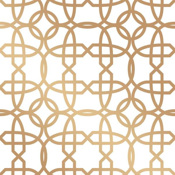 Tempaper Cynthia Rowley Chainlinx Gold Self-Adhesive Removable Wallpaper CR445