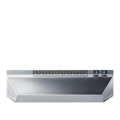 24 in. Ductless Under Cabinet Range Hood with Light in Stainless Steel