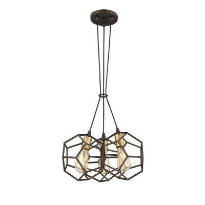 Cinko II 3-Lights Oil Rubbed Bronze 17 in. LED Pendant