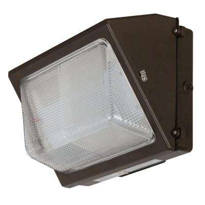 ADL Lumin 80-Watt Bronze Outdoor LED Wall Pack with Prismatic Lens