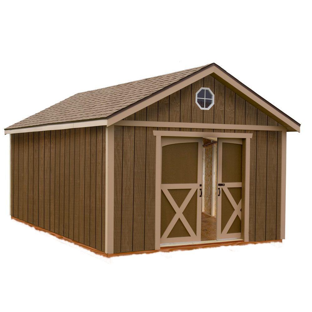 North Dakota 12 ft. x 12 ft. Wood Storage Shed Kit