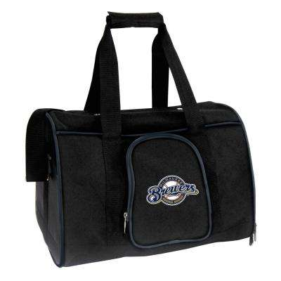 MLB Milwaukee Brewers Pet Carrier Premium 16 in. Bag in Navy