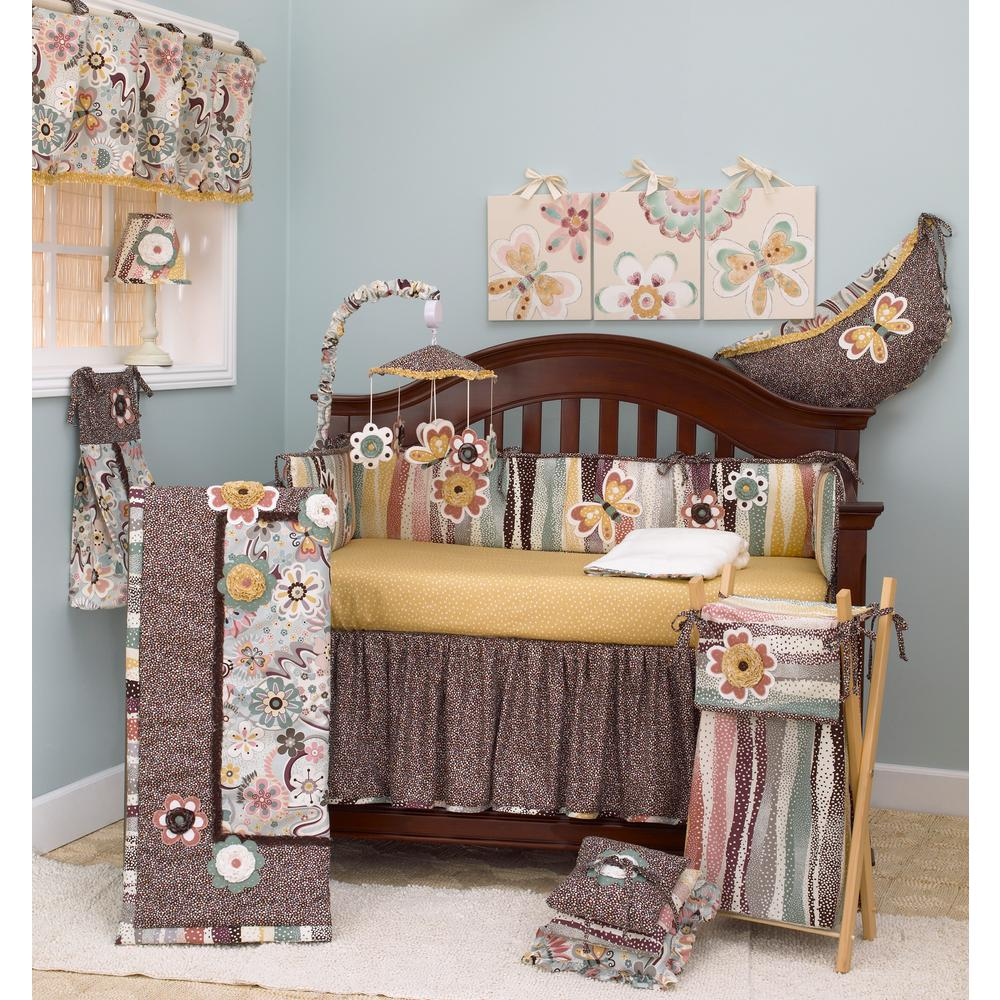 Penny Lane Floral Multicolor 4-Piece Crib Bedding Set