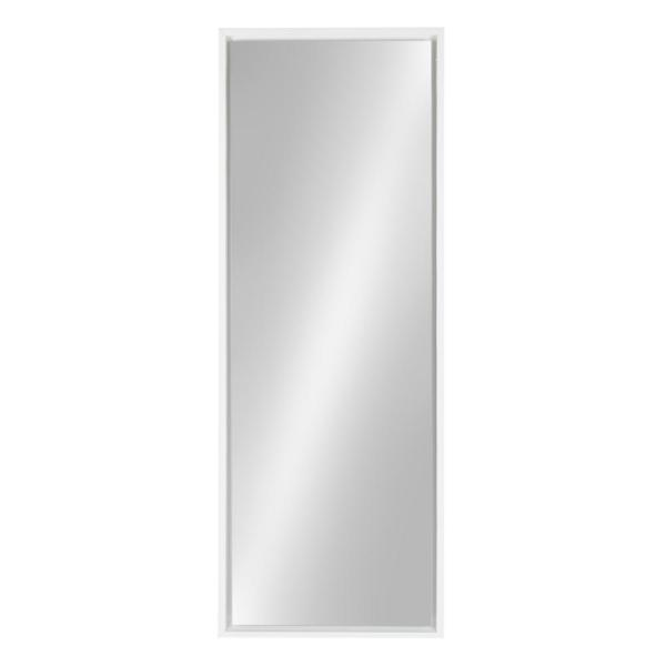 Large Rectangle White Full-Length Contemporary Mirror (48 in. H x 16 in. W)