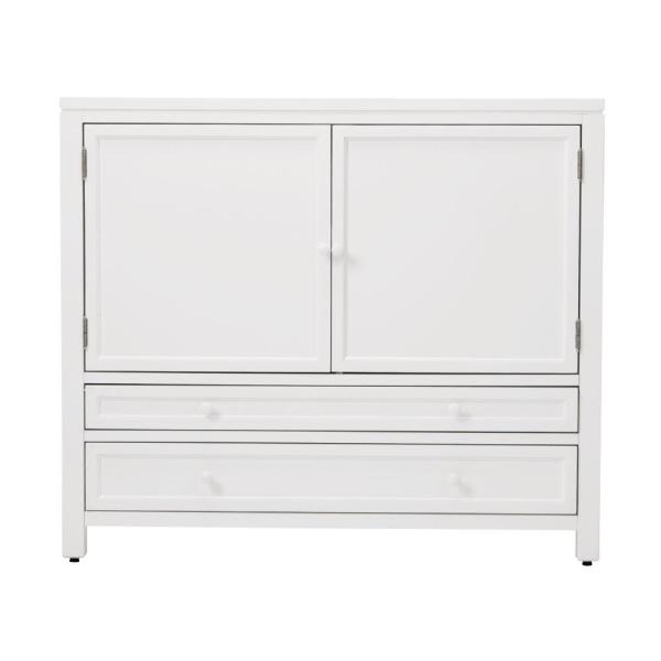 undefined Craft Space Picket Fence White Wood Storage Cabinet (42 in. W)